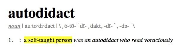 Definition autodidact