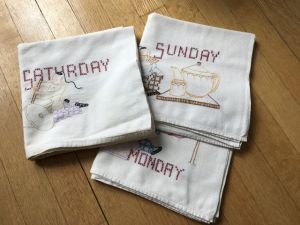 Tea towels days of week