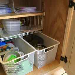 Plastic & stainless in closed cupboard