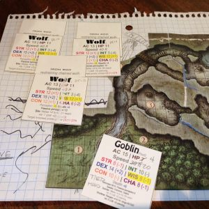 Phandelver game DM view of cave Wolf room 3