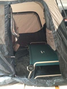 End view, seen through the tent door
