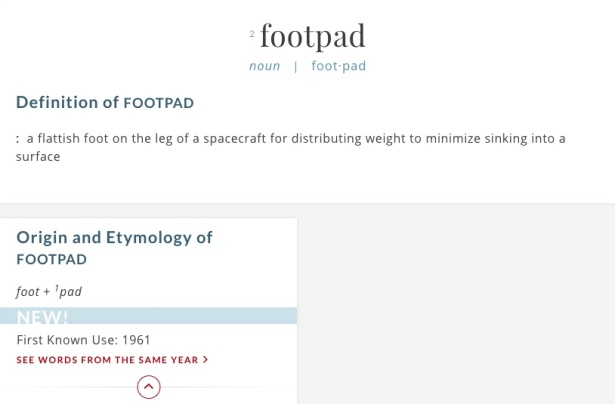 Define footpad 2