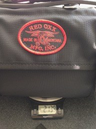 Red Oxx Big Bull Roll-up weight empty