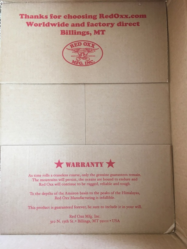 Red Oxx shipping box - 1