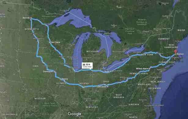 RoadTrip round trip map