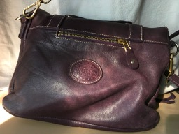 Roots canada purple leather purse - 1