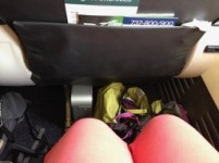 """Tight"" 1st Class legroom=10"" from seatback"
