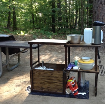 Camp kitchen, deployed at campsite