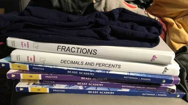 Math books textbook Laundry