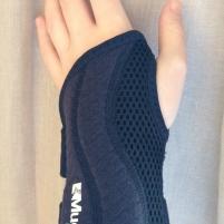 Wrist wearing supportive brace
