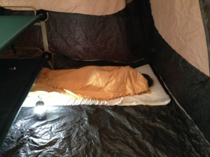 sleeping in tent - 1