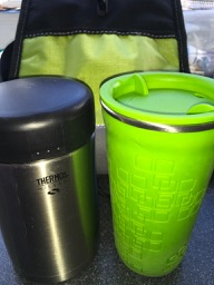 Bonus points for color-coordinating cup to lunchbox!