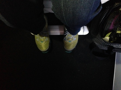Generous 1st Class legroom=can't reach seatback with tippy toes