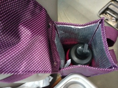 water bottle in insultated bag - 1