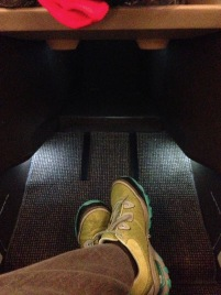 SwissAir Business Class foot room