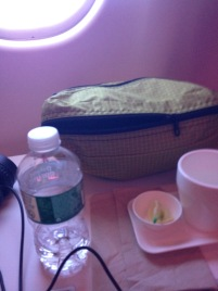 SwissAir Business Class side table