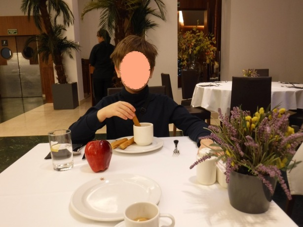 Barcelona hotel breakfast - 1