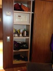 Barcelona hotel closet - 2