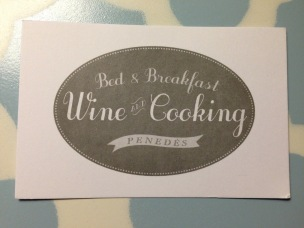 Barcelona 2017 B and B Wine Cooking card - 1