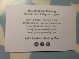 Barcelona 2017 B and B Wine Cooking card back - 1