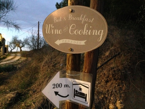 Barcelona 2017 B and B Wine Cooking street sign