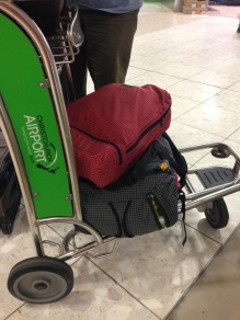 NZ airport Christchurch luggage cart - 1