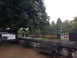 NZ Canterbury Museum entrance looking to Botanic Garden - 1