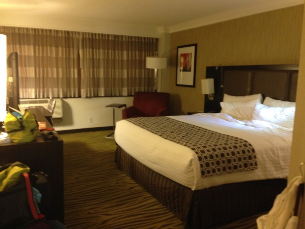 NZ Crowne Plaza LAX hotel room - 1