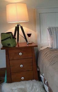 NZ lodging Northfield bedside table wine PCSB - 1