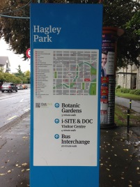 NZ services Hagley Park signage