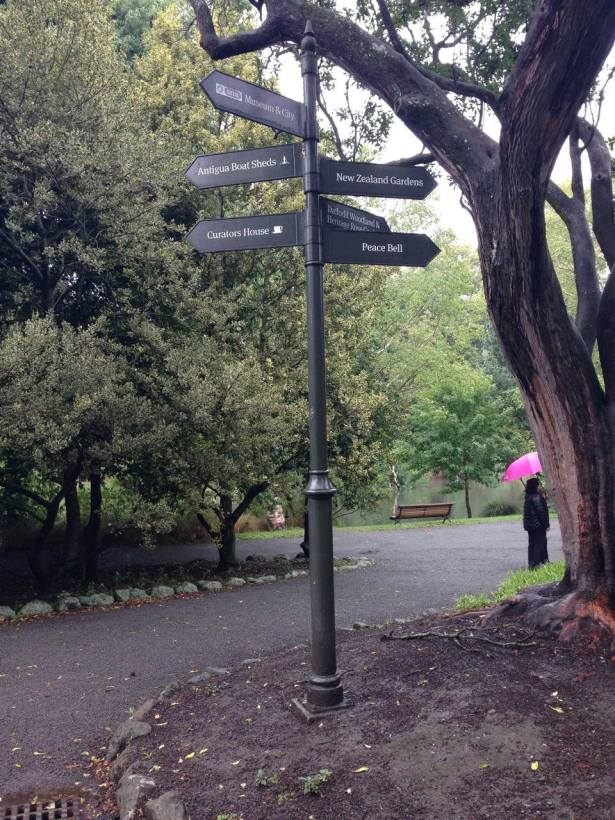 NZ trip signpost