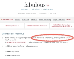 Definition FABULOUS