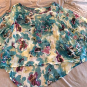NZ capsule wardrobe floral poncho