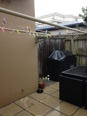 NZ Motel Roma on Riccarton - guest patio laundry line bbq