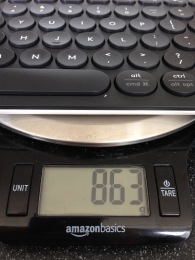 Bluetooth keyboard Logitech scale weight - 3