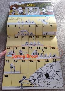 Calendar spring break - 1