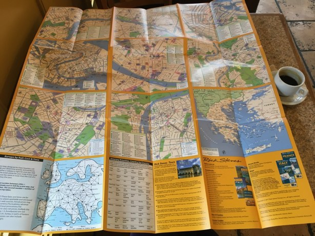 Europe map rail train trip plan compare Rick Steves BACK