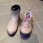 Ecco bootie with Ahnu Sugarpine sneaker