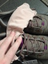Angelrox Nude glove with Ahnu Sugarpine sneaker in Alder Bark