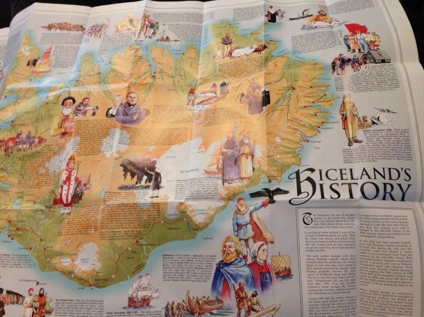 souvenir map Iceland New Zealand - 1