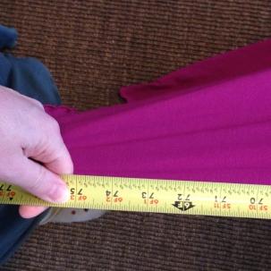 Angelrox violet Loop Shawl compare - Shawl length detail
