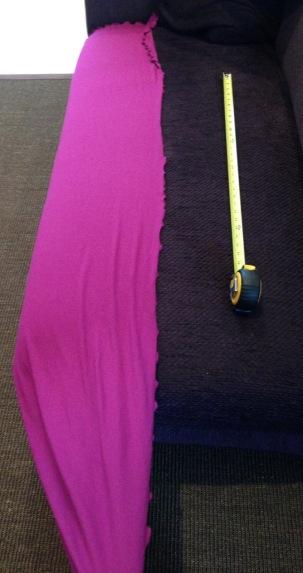 Angelrox violet Loop Shawl compare - Shawl length sofa