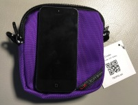 Tom Bihn Cubelet with iPhone 5 for scale