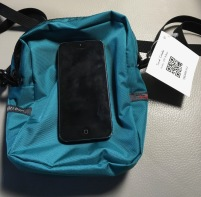Tom Bihn Travel Cubelet with iPhone 5 for scale