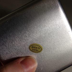 Travel toiletries shampoo bar Lush storage tin detail