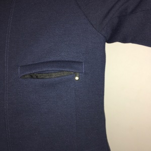 Chest pocket unzipped