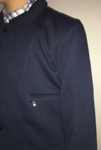 Chest pocket zipped shut