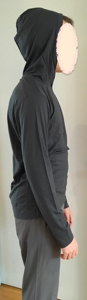 QOR merino hoodie dark grey - 1