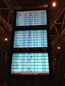 airport information display board
