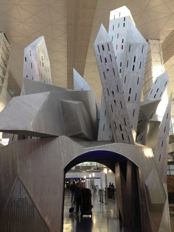 Airport DFW art sculpture castle